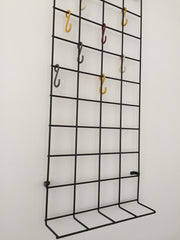 Mid century geometric wire grid coat rack by Karl Fitchel - eyespy