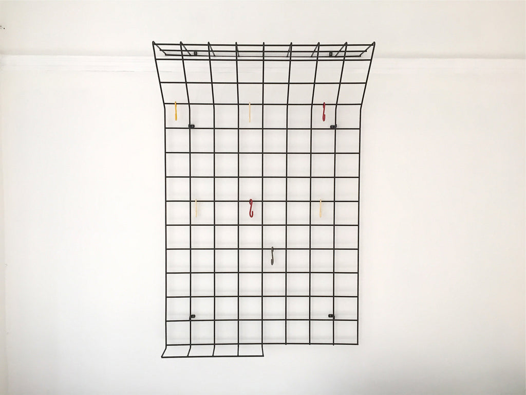 Mid century geometric wire grid coat rack by Karl Fichtel - Large - eyespy
