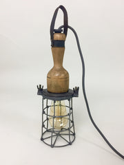 Vintage industrial caged inspection light - eyespy