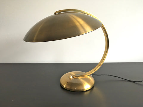 Brass Bauhaus table lamp by Hillebrand