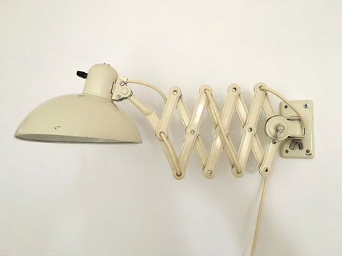 Bauhaus Kaiser Idell 6718 'Super' scissor arm wall mounted lamp