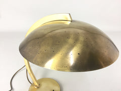 Brass Bauhaus table lamp by Hillebrand - eyespy
