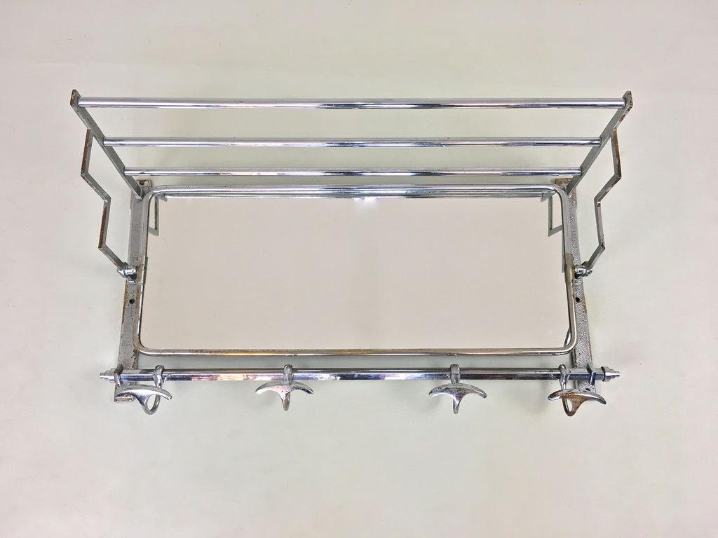 French art deco coat rack and mirror - eyespy