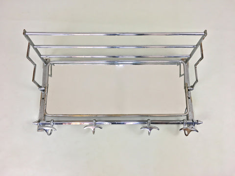 French art deco coat rack and mirror