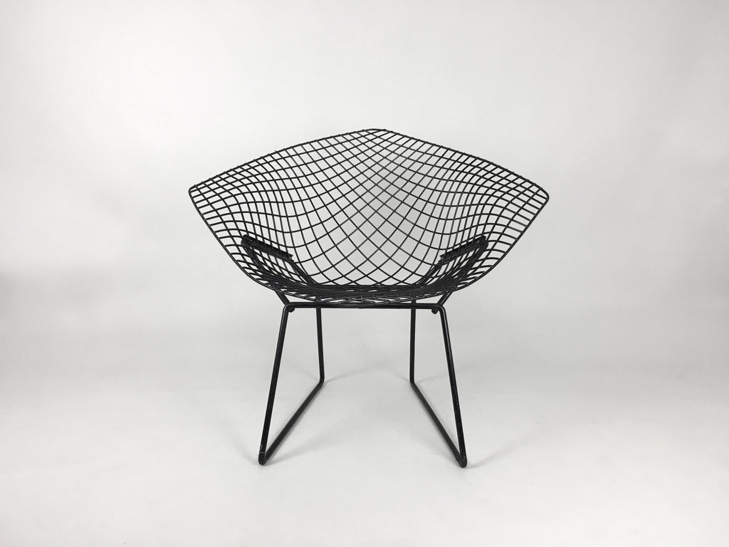 Vintage Furniture Online   Vintage Black Bertoia Diamond Chair By Knoll