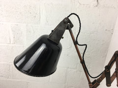 1930s scissor arm wall mounted lamp by Walligraph - eyespy