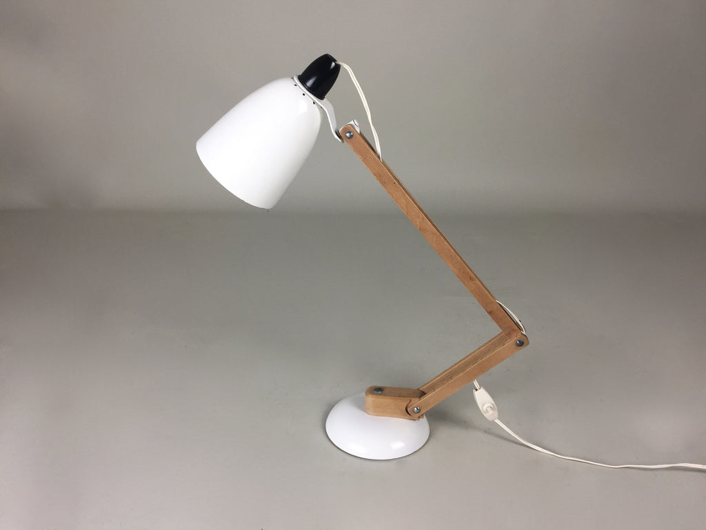 Habitat Conran Maclamp. White, wooden arms - eyespy