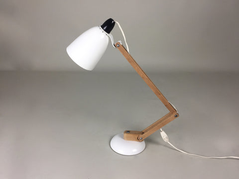 Habitat Conran Maclamp. White, wooden arms