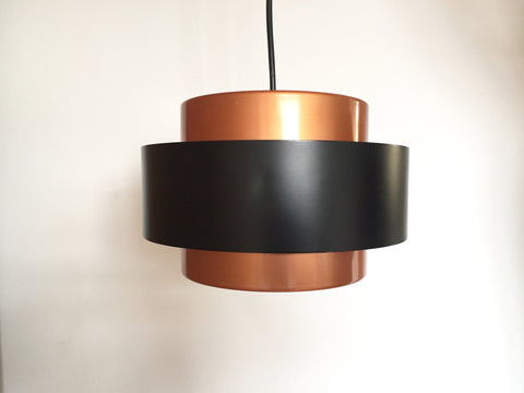 1960s Danish 'Juno' copper pendant ceiling light by Jo Hammerborg, Fog & Mørup