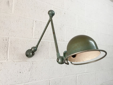 Vintage industrial French 2 arm lamp by Jielde
