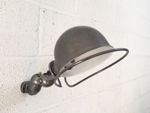 Vintage industrial French wall lamp by Jielde