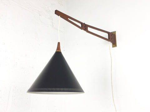Mid century swing arm wall lamp