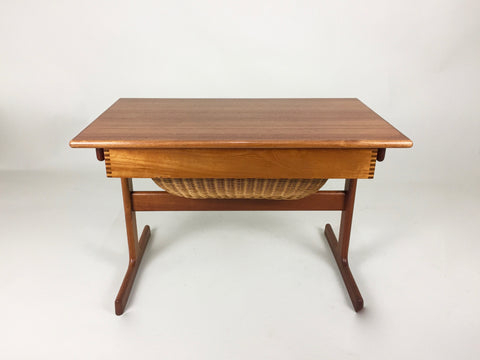 Danish teak sewing table by Kai Kristensen for Vildbjerg Mobelfabrik