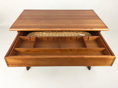 Danish teak sewing table by Kai Kristensen for Vildbjerg Mobelfabrik - eyespy