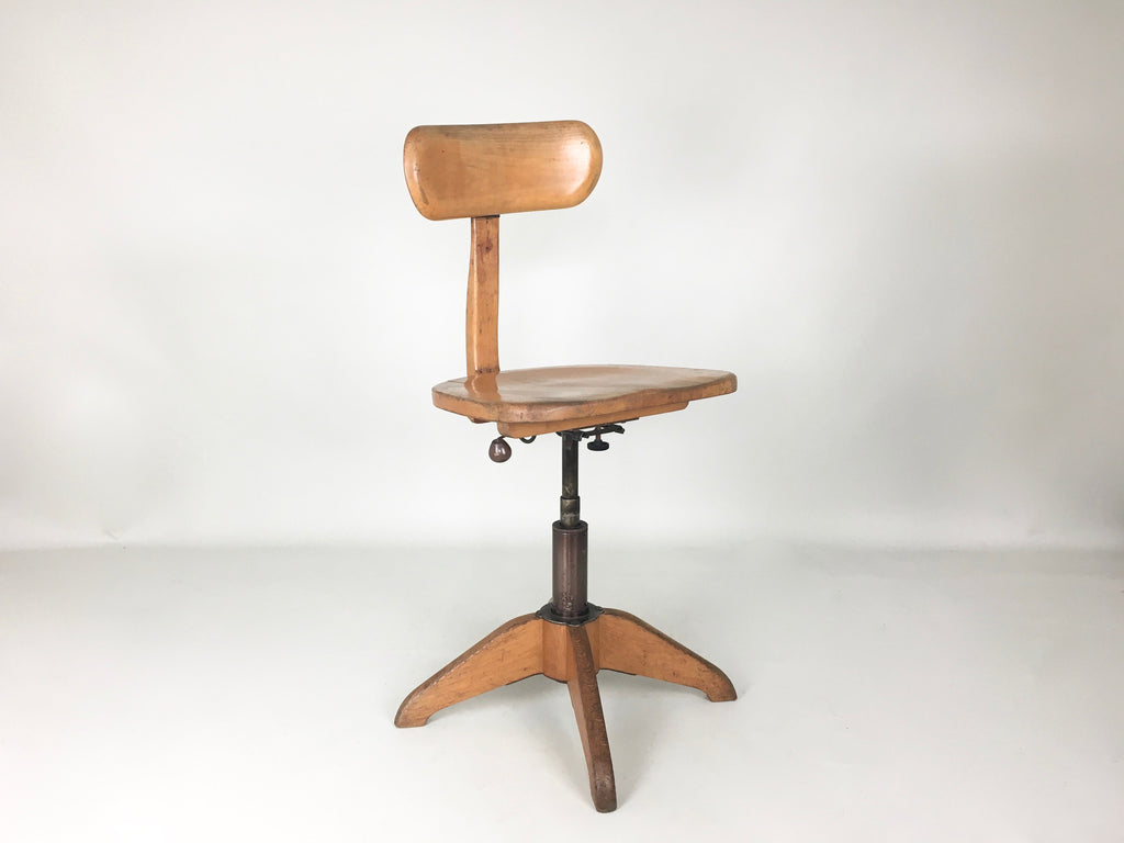 Swiss 1930s Vintage Industrial Office Chair By Stoll Giroflex Eyespy