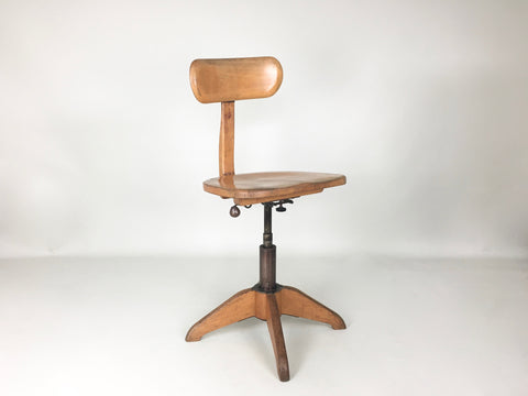 Swiss 1930s vintage industrial office chair by Stoll Giroflex