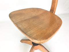 Swiss 1930s vintage industrial office chair by Stoll Giroflex - eyespy