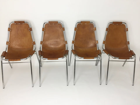 Set of 4 Charlotte Perriand Les Arcs chairs