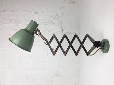 1950s French scissor arm wall lamp
