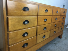 Early 20th century haberdashery shop drawers - eyespy