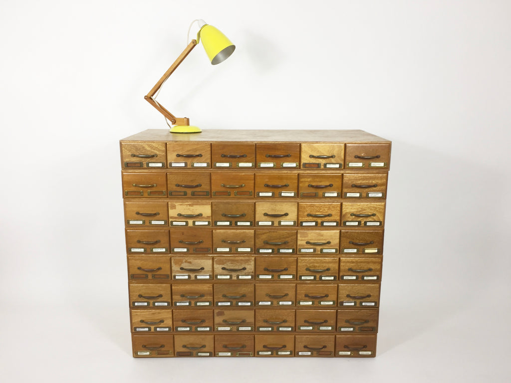 Mid century archive drawers - eyespy