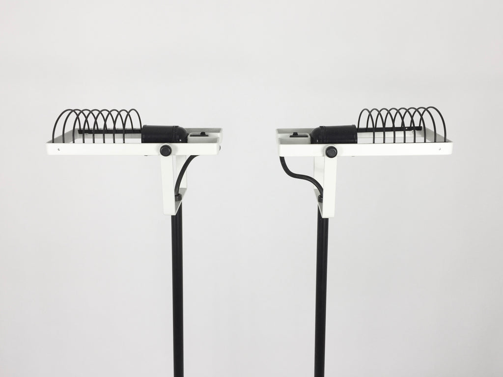 1970s Italian Artemide Sintesi Terra Floor Lamps. New old stock - eyespy