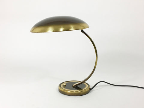 Bauhaus brass desk lamp, model 6751 by Christian Dell for Kaiser Leuchten