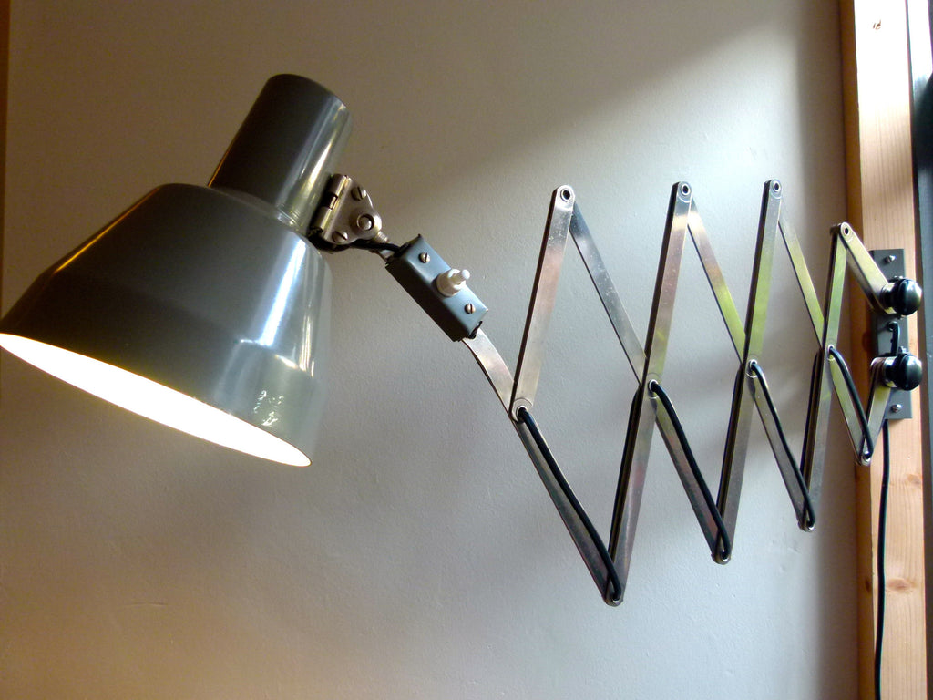 French wall mounted scissor lamp - eyespy