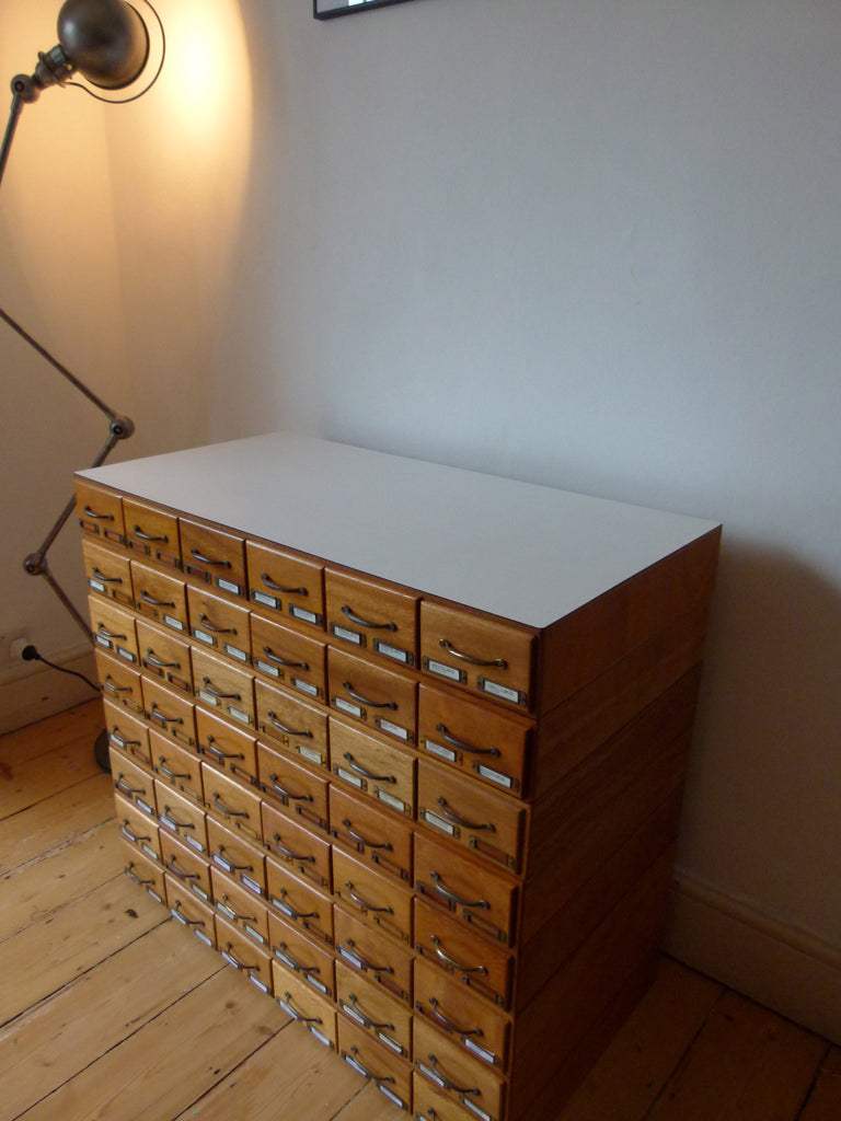 Vintage bank of drawers - eyespy