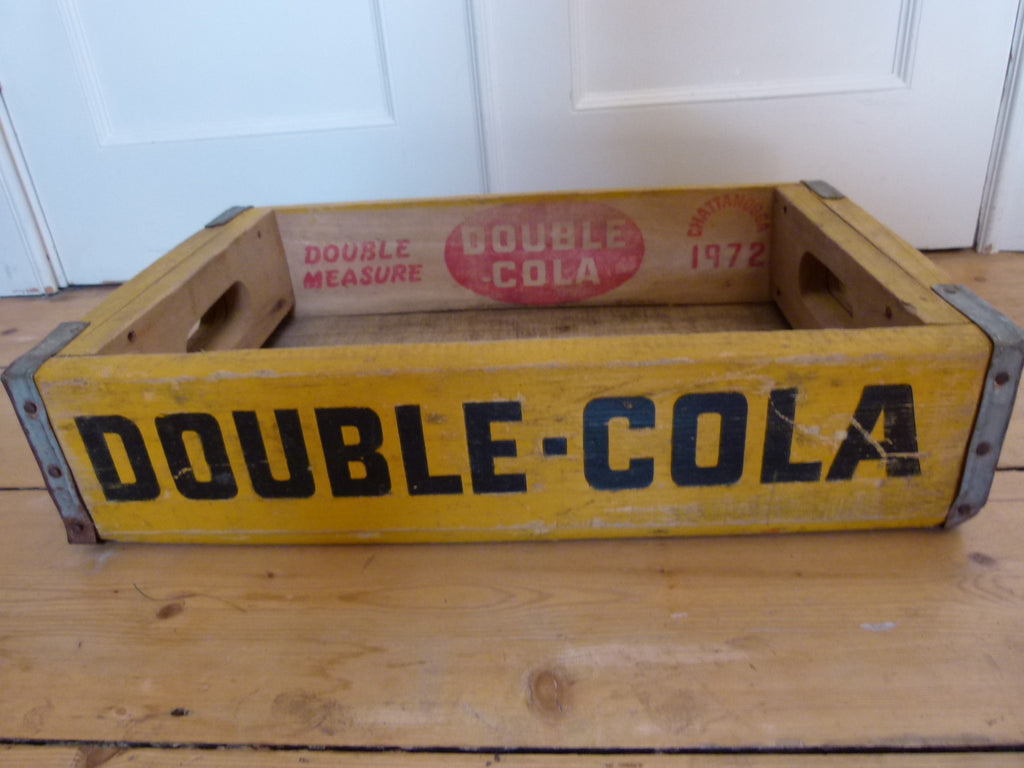 Vintage Us Soda Crate Double Cola Yellow Eyespy
