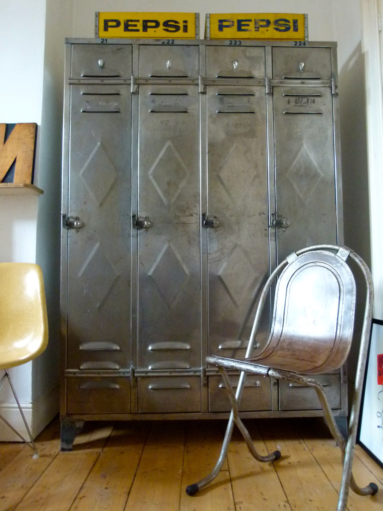 Vintage industrial lockers - eyespy
