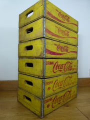 Vintage Coca Cola crate - Yellow - eyespy