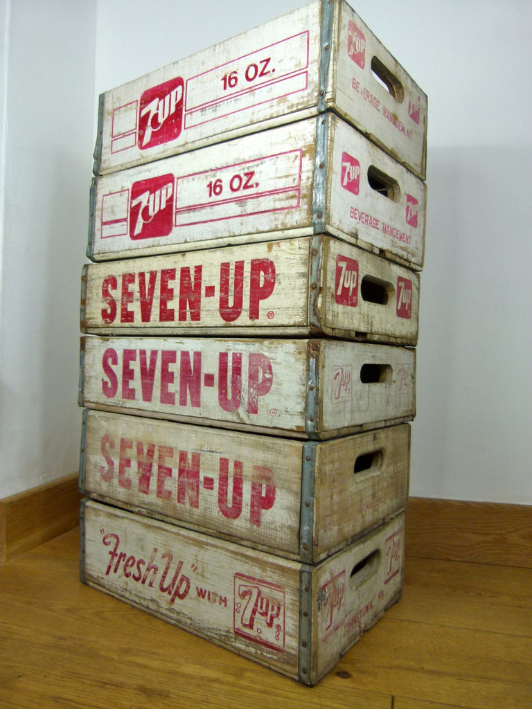vintage SEVEN UP crates - White - eyespy