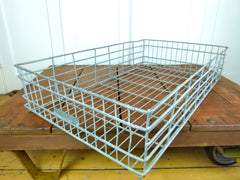 LARGE VINTAGE INDUSTRIAL GALVANISED METAL BAKERY TRAYS