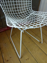 Original 70s Bertoia wire side chair by Knoll