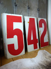 XXL vintage metal gas station numbers - eyespy