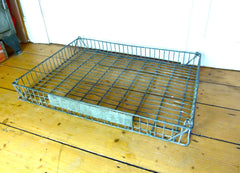 Large galvanised wire 'BROADHEAD' tray - eyespy