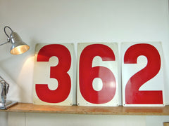 Large US gas station metal number signs - eyespy