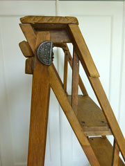 ANTIQUE VINTAGE HATHERLEY STEP LADDER - eyespy