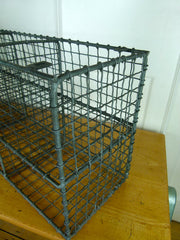 Vintage metal wire pigeon hole shelves - eyespy