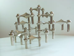 Nagel Modular Chrome Candlestick holders - eyespy