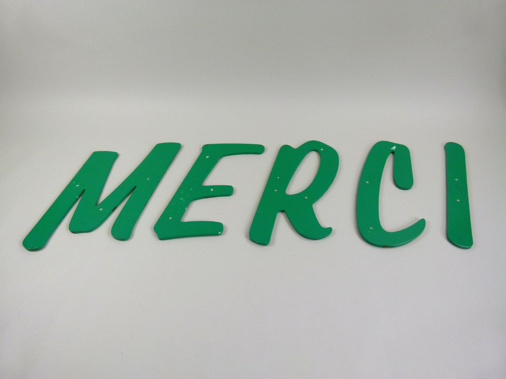 large 42cm vintage shop sign letters - merci - eyespy