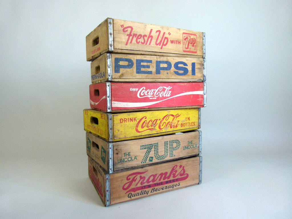 Vintage US soda crates - eyespy