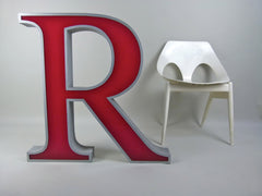 Giant 80cm vintage shop sign letter - R - eyespy