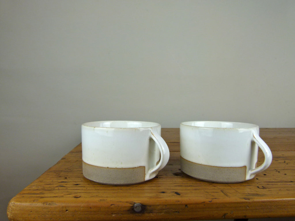 French Stoneware Basic breakfast cup - Ivory - eyespy & Buy Les Guimards breakfast cups and tableware online UK stockist ...