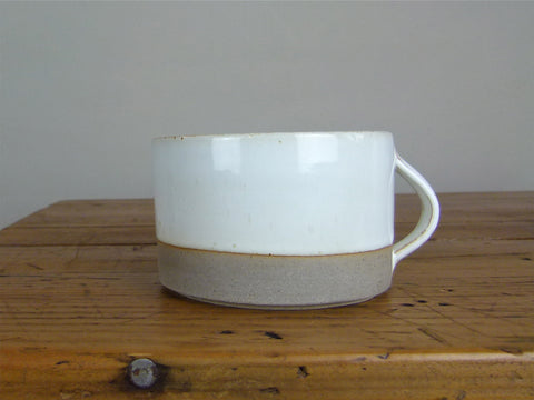 French Stoneware Basic breakfast cup - Ivory