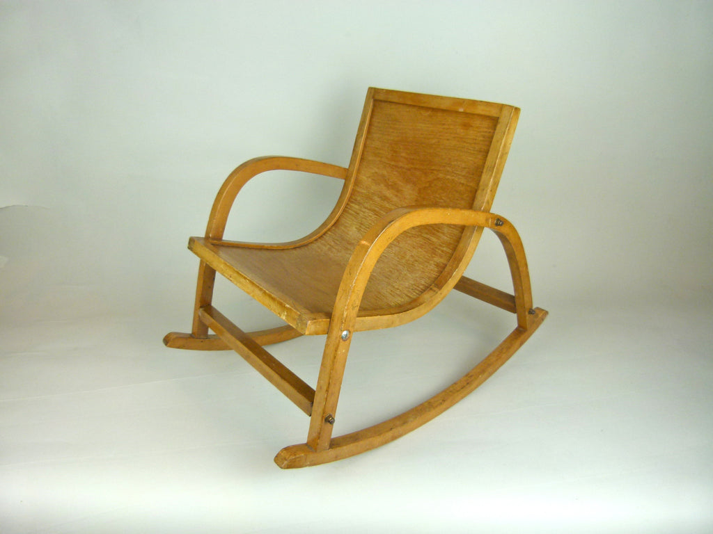 child's bentwood rocking chair - eyespy