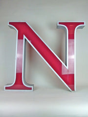 Giant 80cm vintage shop sign letter - N - eyespy