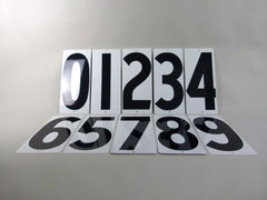 US gas station metal number signs - eyespy