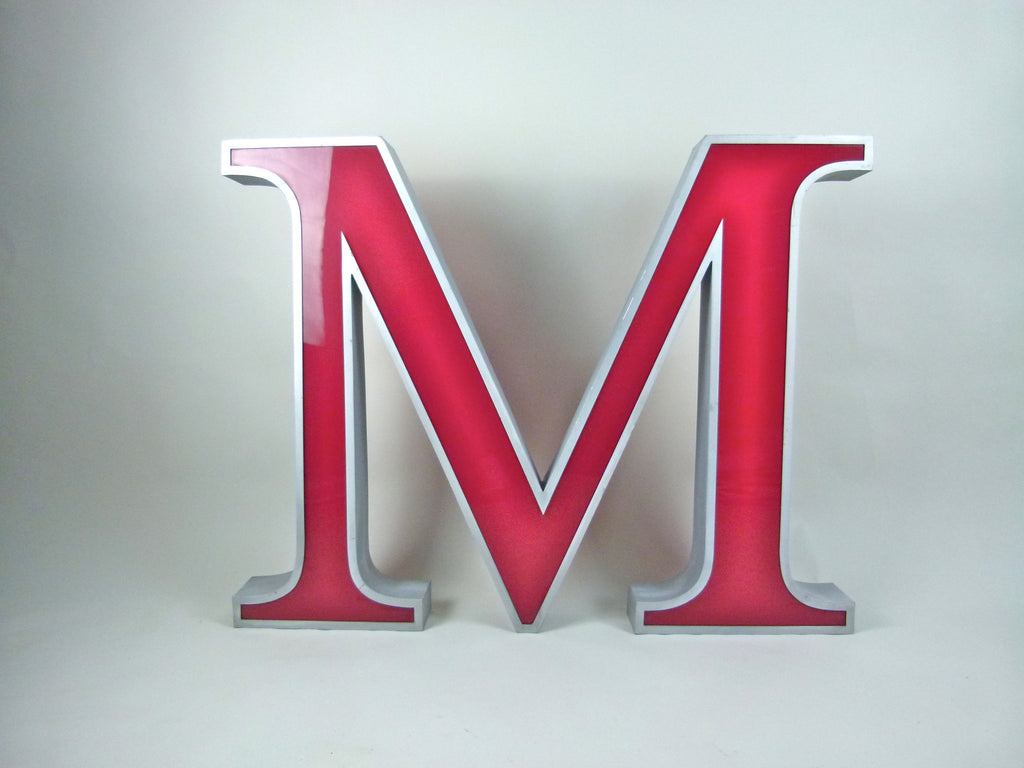 Giant 80cm vintage shop sign letter - M - eyespy